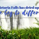 Victoria Falls - Has it dried up